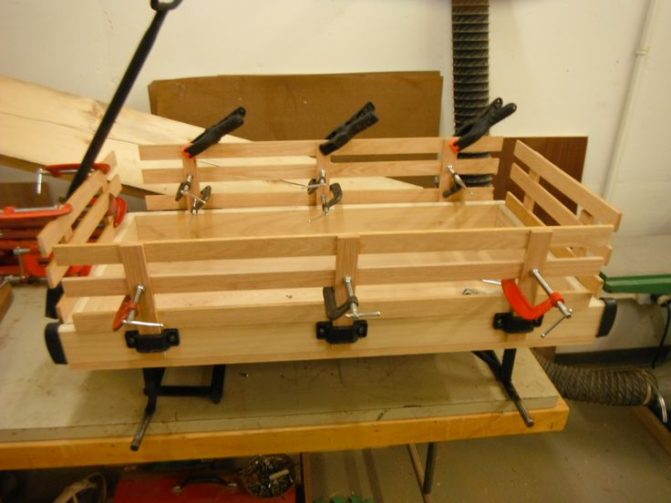all new solid oak side rails made