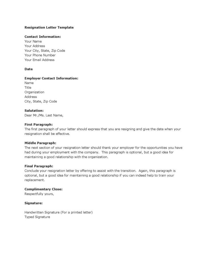 Only best 25 ideas about Resignation Sample – Professional Resignation Letter Template