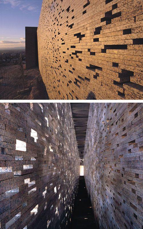 Wall of San Miguel Alto in Granada, Spain by Andelusian architect Antonio Jiménez Torrecillas