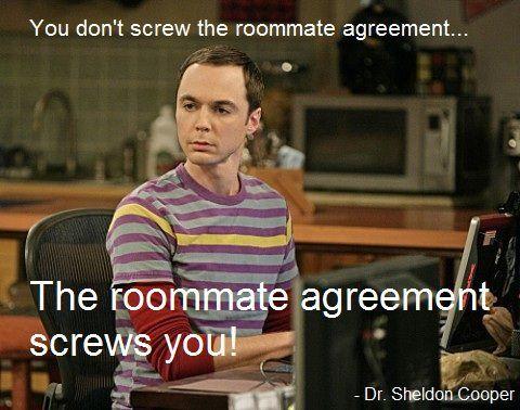 Sheldon Cooper – Roommate Agreement