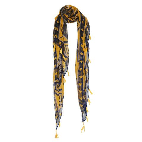 Tassel Series Canary & Blue Scarf – Short Story
