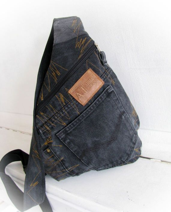 One strap backpackdenim backpack jeans backpack от klaptykart