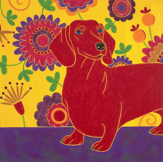 Wonderful Wiener Dog by Angela Bond