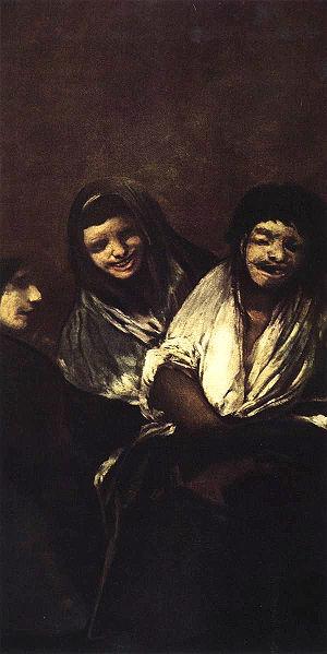 (Mujeres riendo), Women Laughing,  Francisco Goya, 1819-1823