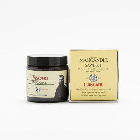 Sawdust. Shop now at The Candle Library. L'Ascari candles are handmade in Australia using 100% soy wax.