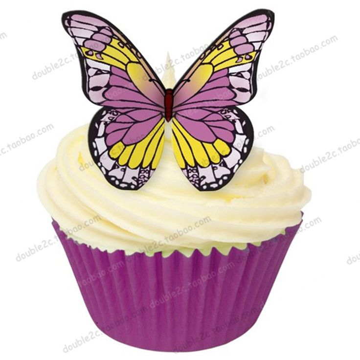 Съедобные Бабочки для торта, может быть ели непосредственно, 2 размеров, 24 шт., Съедобные Украшения для Кексов, печати Пищевой Бумаги, Торт Инструменты купить на AliExpress