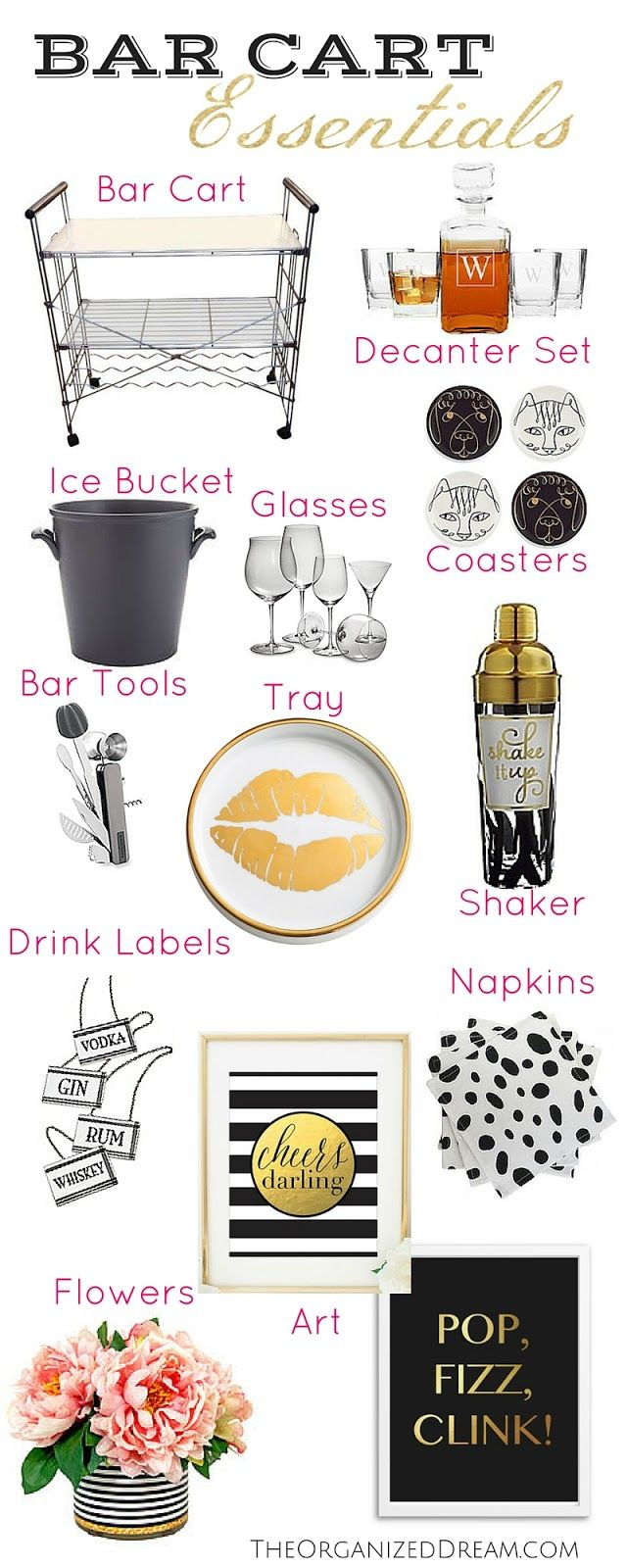 The Organized Dream: Bar Cart Essentials