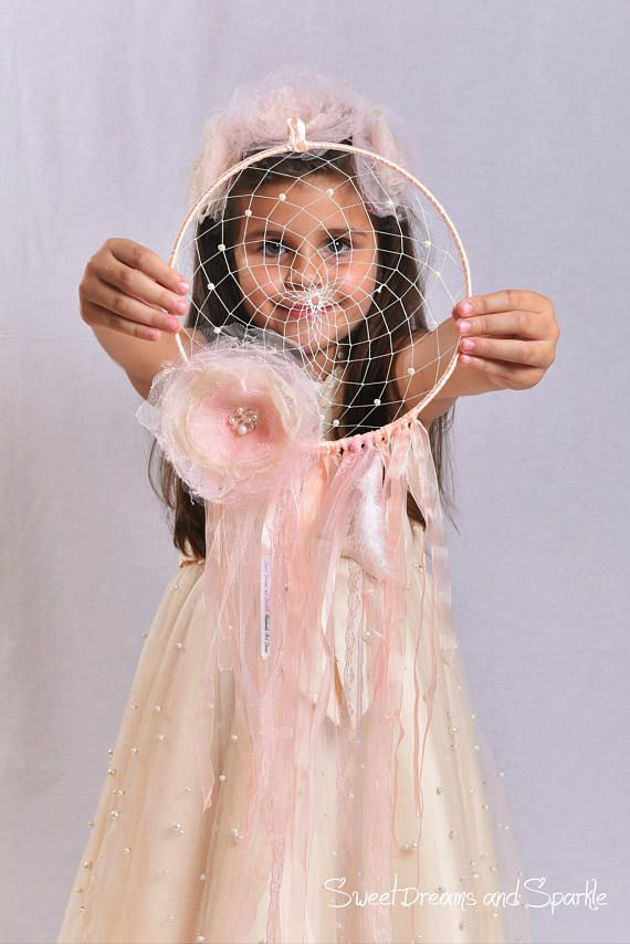Shabby chic dream catcher Nursery dream catcher Floral Dream