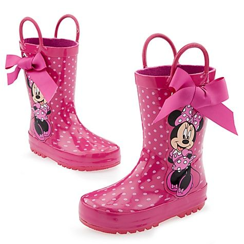 cdb6d395515 Minnie Mouse Rain Boots for Toddler Girls