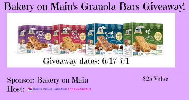 Bakery on Main's Granola Bars Giveaway 7/1 ~ Tales From A Southern Mom