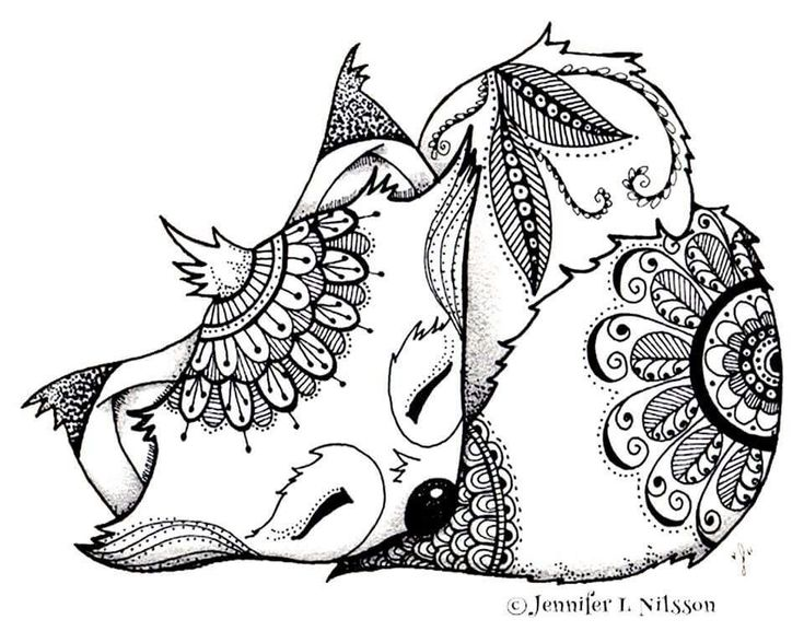 Naturel Coloring Pages Free | Fox coloring page, Animal ...