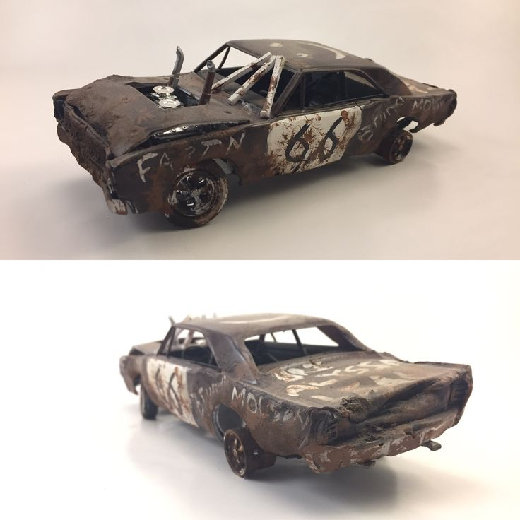 1968 Dodge Dart demolition derby car. 1/25 scale model