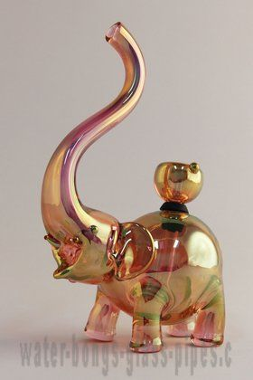 "Elephant Bong S- I kinda wanna get this for my uptight, MMJ-hating Aunt (she loves elephants), take the bowl & stem out, and give it to her like ""Hey I got u a BUD vase"". xD"