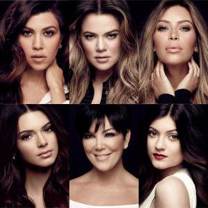 Kim Kardashian, Kourtney Kardashian, Khloe Kardashian, Kris Jenner, Kendall Jenner and Kylie Jenner. The Kardashian Girls