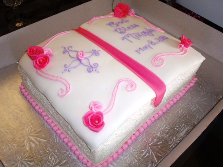 Christening Cake Design For Girl : Girl Bible Christening Cake Ideas : Christening Cakes for ...