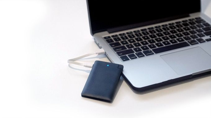 Charging the Portable Charger (0.5cm thick)