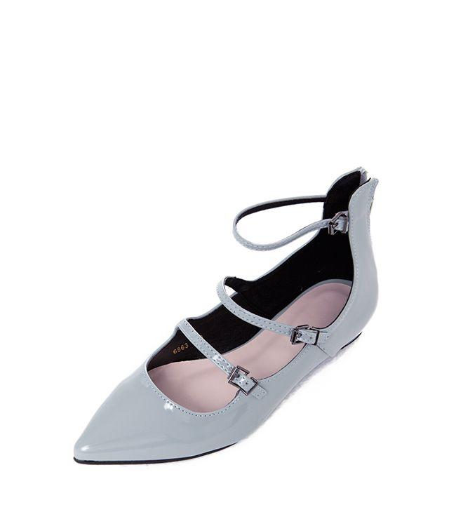 SP14-3 Туфли на 3 ремешках мятные - купить в интернет магазине в Москве