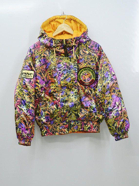 325bbb53 STUNNING!!! ELLESSE Jacket Vintage 90's Ellesse Multicolor Racing ...