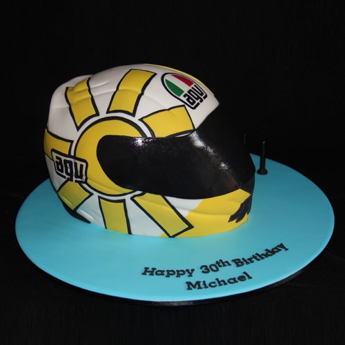 Motor Cycle Helmet Cake
