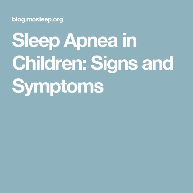 Sleep Apnea in Children: Signs and Symptoms