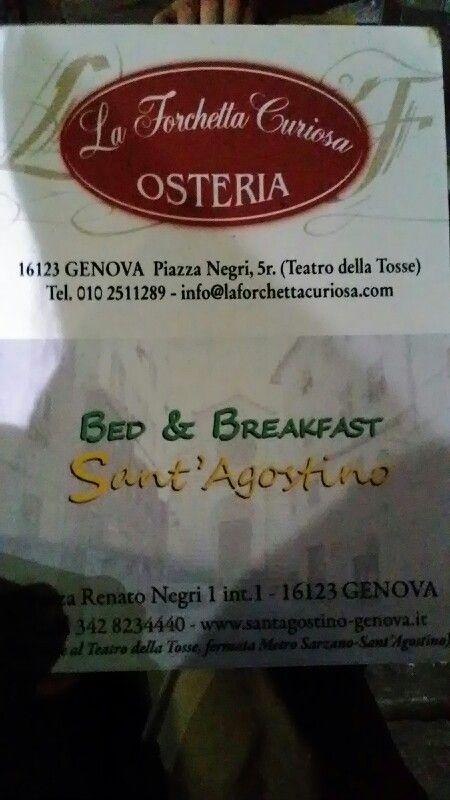 Osteria slow food La Forcheta curiosa - Genova