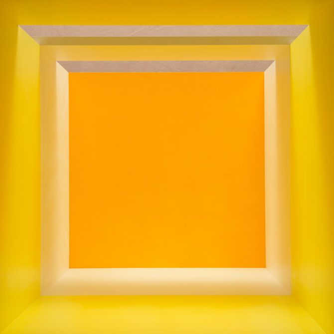 Erin O'Keefe, Yellow White Orange Top Light (2011) from the Empty series.