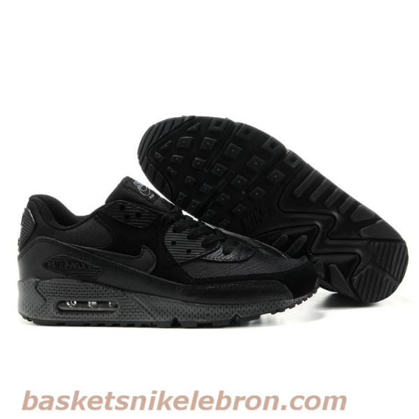 Cheap Authentic Nike Air Max 90 Mens Premium Trainers All Black Shoes  Outlet UK Store