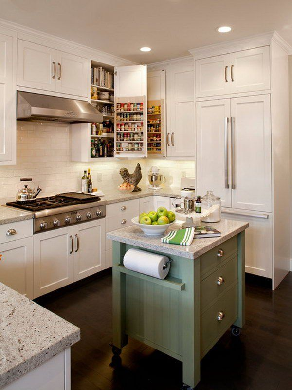 Small Kitchen Island Ideas best 25+ rolling kitchen island ideas on pinterest | rolling