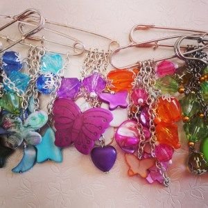 Handmade Bag Charms, Scarf Pins. Made by www.lillarosegifts.com in Cape town South Africa. Shop local at Lilla-Rose Gifts 'n More. We have a studio based in Plumstead, Cape Town~ Buttterflies, Star, Moon, Heart