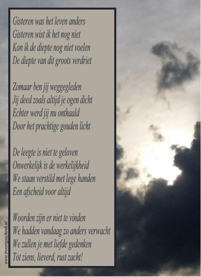 Gisteren was het leven anders www.troostgeschenk.nl