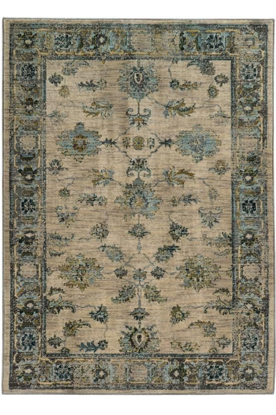 Chandler Area Rug Traditional Rugs Synthetic Patterned Border