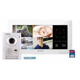 Kocom 10inch Touch Quad DVR Videophone+ Door station KC-MC30+ 3 Cameras