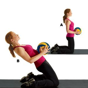 Great, innovative Ab Moves from Women's Health. This lean back will have your core on fire.