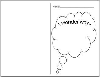 I wonder book...a great way for kids to record the things they are interested in researching. They can keep it in their desks and pull it out whenever they are finished working on an assignment.
