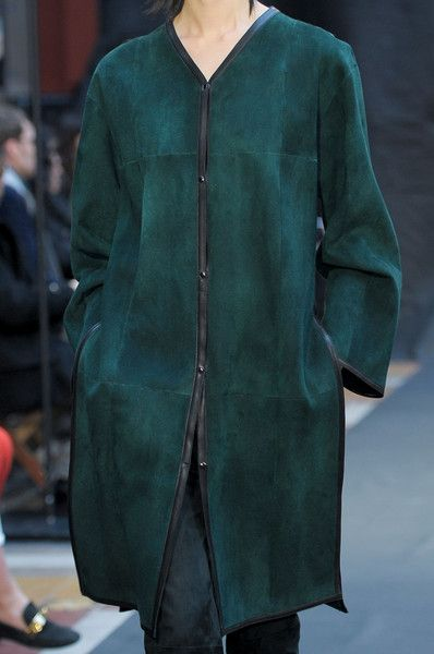 Green suede coat by Hermes Fall 2012