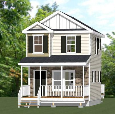 16x20 tiny house 16x20h9 586 sq ft excellent for 16x20 garage plans