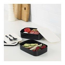 IKEA - FLOTTIG, Lunch box, The lunch box is perfect for storing food in portions so you can bring it with you to school or work.Reduce food waste by storing and reheating your leftovers in a food container.Empty food containers can be stacked inside one another to save space.