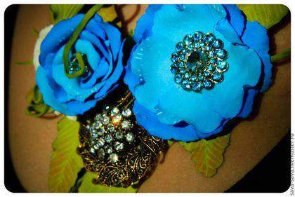 flower blue rose girl craft foam