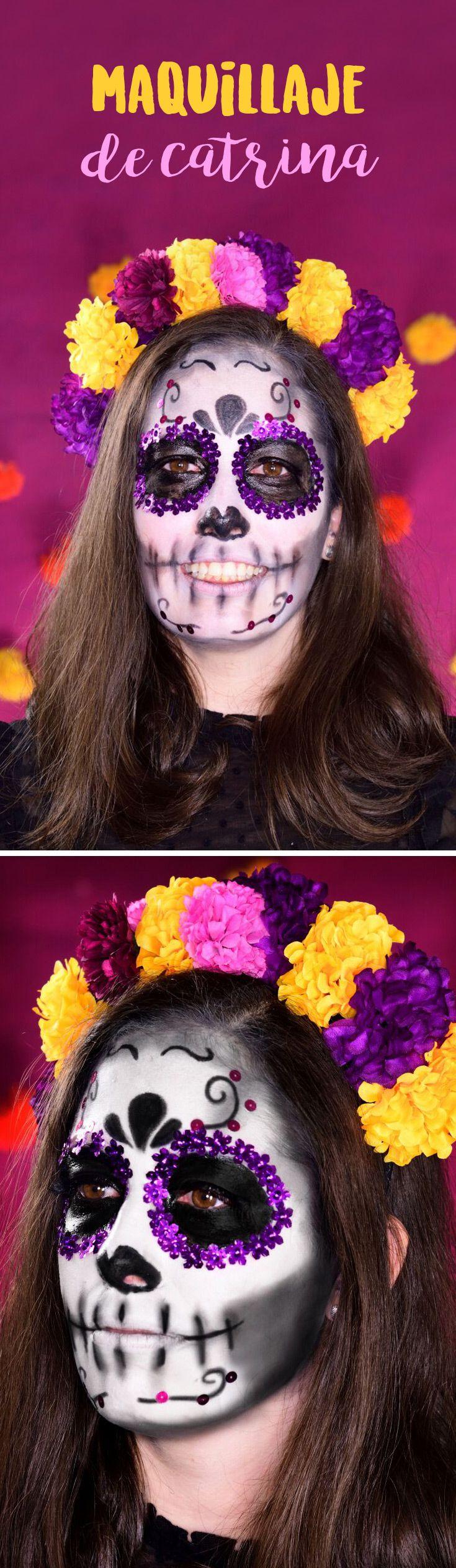Maquillaje de Catrina Disfrazate de catrina este Día de Muertos y festeja a lo grande. Es muy sencillo y se ve súper padre. Sé la sensación de estas increíbles tradiciones.
