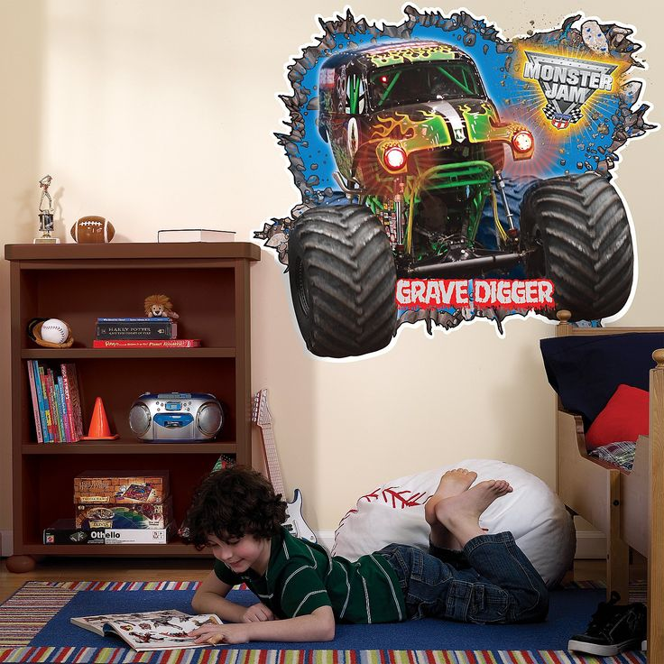 Monster Jam 3D Giant Wall Decals from BirthdayExpress.com