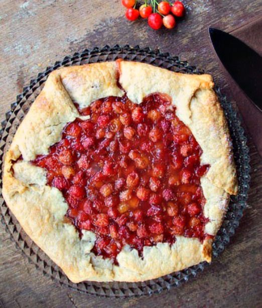 This Delicious Sour Cherry Crostata has a homemade sour cherry pie filling. The all butter crust puts it over the top!