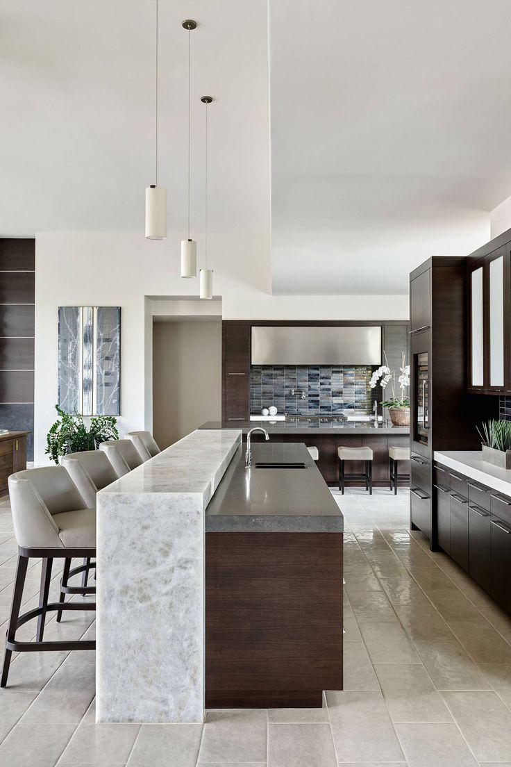 Luxury Kitchen Design, Kitchen Room Design, Contemporary Kitchen Design, Home Decor Kitchen, Interior Design Kitchen, Kitchen Furniture, Home Kitchens, Kitchen Ideas, Bar Kitchen
