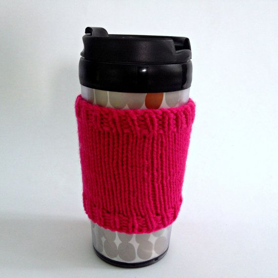 Coffee cozies, coffee cup sleeve, knit coffee cozy, knitted coffee cozy, coffee accessories, pink coffee cup, coffee sleeve, coffee cozy on Etsy, $15.00 CAD