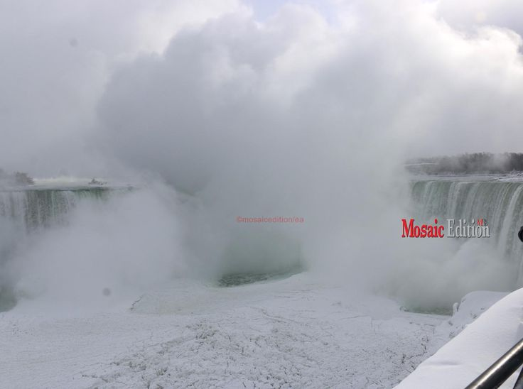 Niagara Falls has attracted many winter visitors as the waters freeze in biting cold blowing across North America.