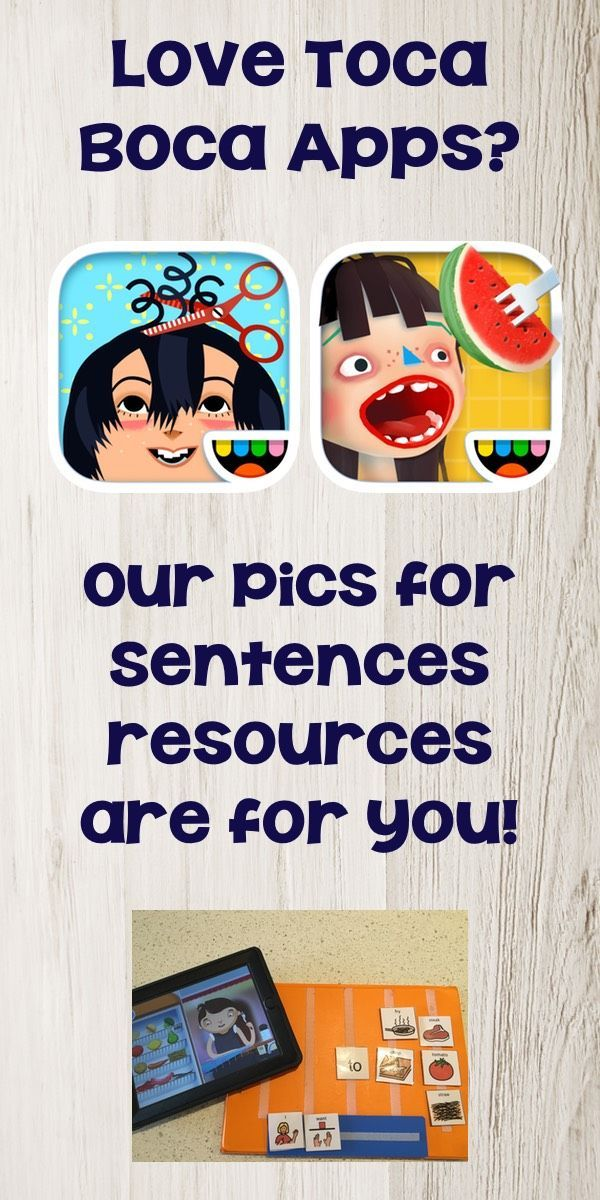 "Like me, you are a busy SLT always on the lookout for new therapy ideas. You've seen Apps work as wonderful motivators for your clients but you're concerned that they can limit communication with others.Sound familiar? We have created the ""Pictures for Sentences"" series for SLTs just like you. Each resource in the series provides picture vocabulary to support your clients in increasing their sentence length."