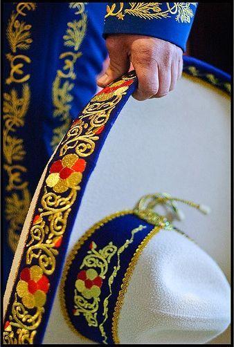 detalles del bordado del sombrero de charro