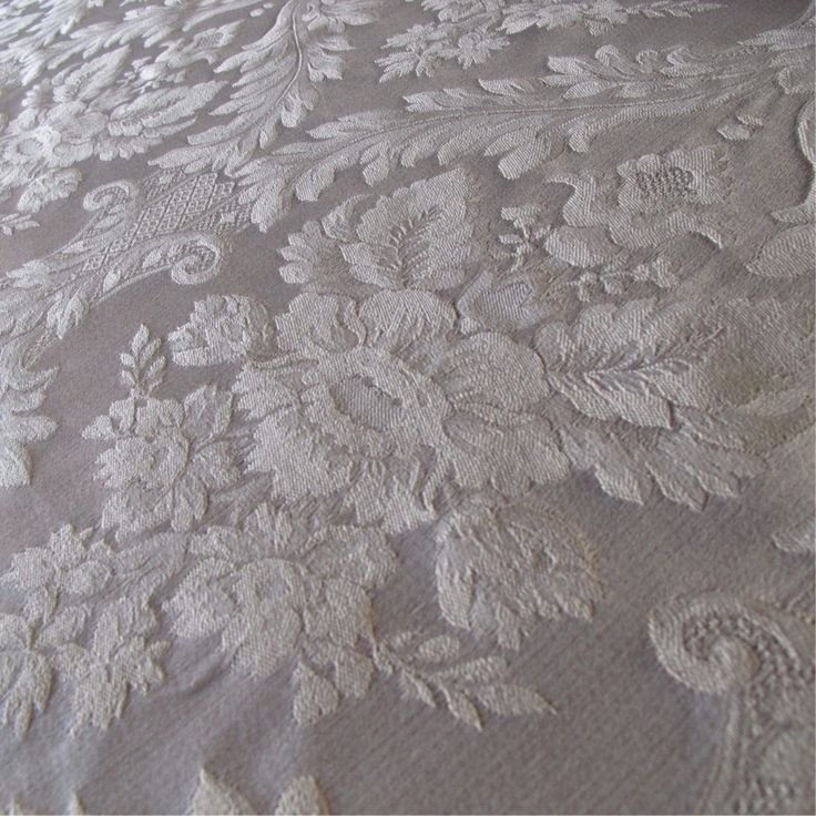 Patterned Cream Damask Curtain and Upholstery Fabric | Porchester Divine Large Pattern from Loome Fabrics