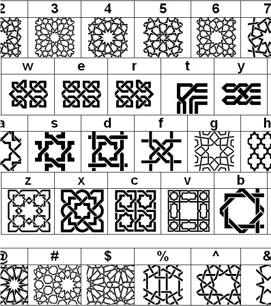 geometric Islamic patterns.