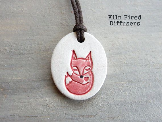 Sleeping Red Fox Essential Oil Diffuser by KilnFiredDiffusers