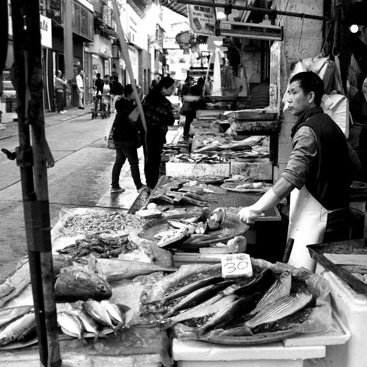 """Fish Butcher"" Shot in Hong Kong by Beren Davis"